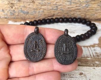 Set of 2 Thai Buddha Amulet Pendants / Thai Amulets / Amulets /Thai Buddha Amulets / Buddhist Amulets / S22