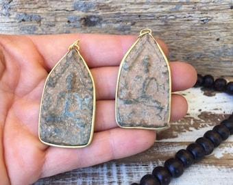 Set of 2 Thai Buddha Amulets / Thai Amulet / Sandstone Amulet / Amulet / Amulet Pendant / Buddhist Amulet / BB40