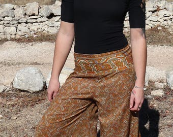 Bell Bottom Pants,Festival Hippie Faerie Pants, Burning Man Trousers,Womens Pants,Aladdin Pants,Elven Clothing,Hippie Trousers,Afghani Pants