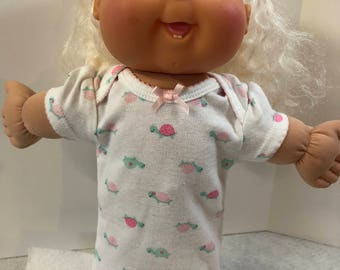 """Cabbage Patch 14 inch BABY or Smaller 14"""" Doll Clothes, Adorable Little """"Pink & Green TURTLES"""" Nightgown, Cabbage Patch 14"""" BABY or Kids"""
