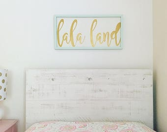 Headboard - White Shiplap Distressed Twin Headboard / Dorm Room Legless Headboard