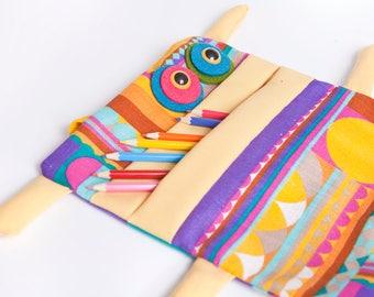 Original and funny kids backpack, folder Monster