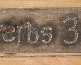 Proverbs 3:5-6 Rustic Handmade Biblical  Scripture Sign