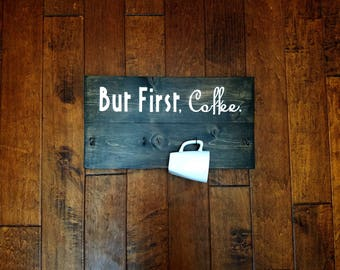 Coffee Cup Holder - Coffee Mug Holder - Wood Sign - Coffee Cup Rack - Coffee Mug Rack - Cup Holder - Coffee Cup Hanger - Mug Holder