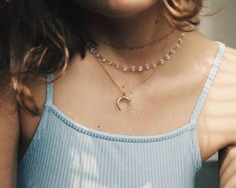 ALLEGRA - chain with Moonstone beads