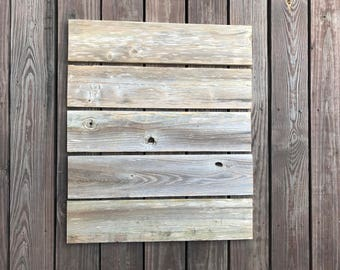 """LOT of 5 - 24"""" x 5-1/4"""" Weathered Wood Boards, Reclaimed Fence Wood Planks, Wide Weathered Wood, Rustic Wood Signs"""