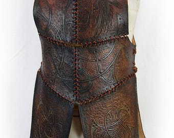 Viking leather armor. Leather armor. Armor Larp. Nordic armor. Tribal armor. Barbarian armor. Viking costume