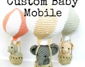 Personalized mobile, custom mobile, hot air balloon mobile, nursery mobile, custom nursery