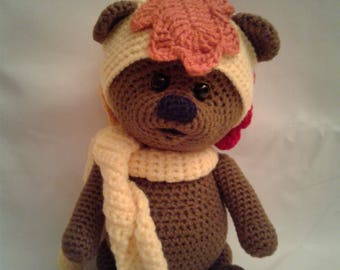 AUTUMN Bear - Crochet Amigurumi Bear - Crochet Teddy Bear - Handmade Crochet Amigurumi
