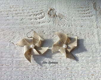 "Earrings ""Windmills"" - fabric"