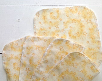 Reusable Baby Wipes, Set of 5, Flanelette Wipes, Eco Friendly