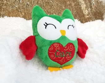 Baby's First Christmas, Gifts Under 30, Christmas Plush, Christmas Gifts for Baby, Personalized Plushie, Owl Plush, Stuffed Gifts for Kids