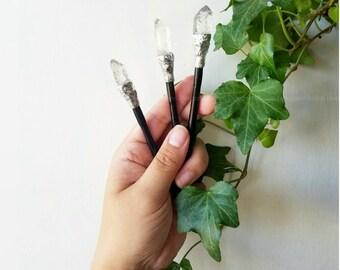 Equinox Sale Crystal Hair Sticks - medium wood hair sticks