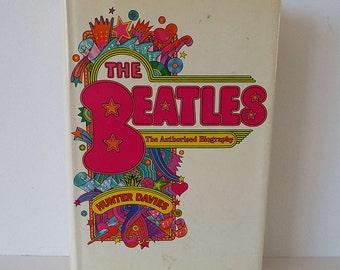 Vintage 1968 The Beatles The Authorised Biography Hard Back Book Hunter Davies 1st Edition With Dust Jacket Ringo Lennon Harrison McCartney