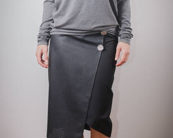 Casual top/ Unique top/ grey tunic