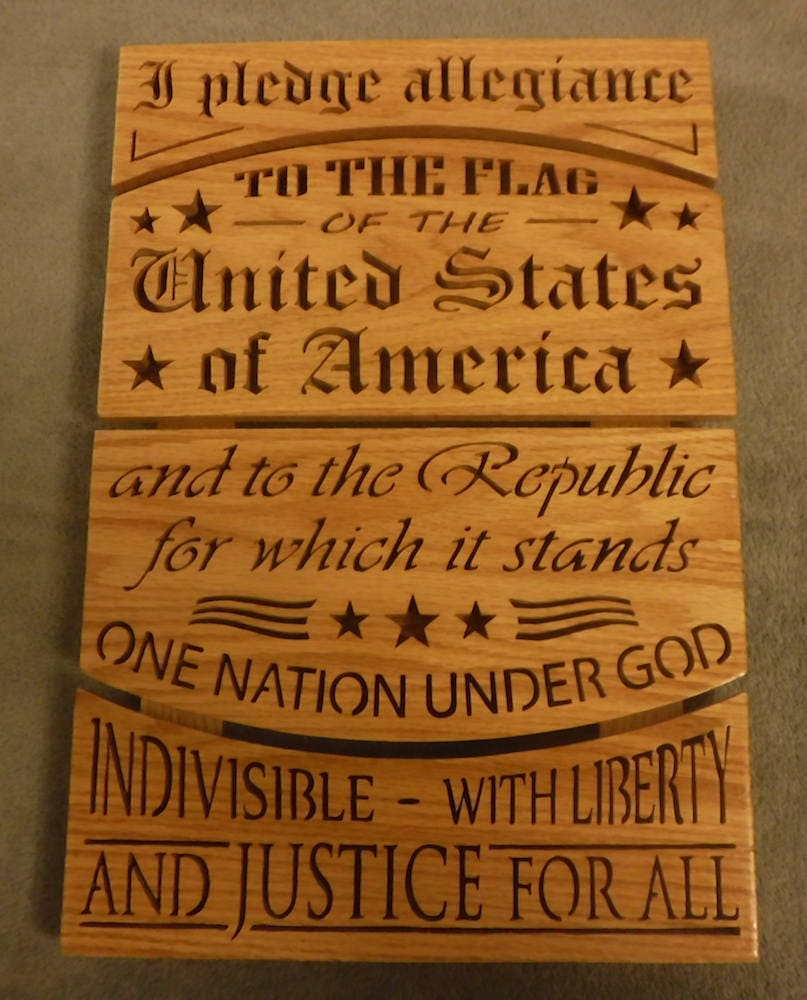 Americana Wall Decor Plaques Signs: Pledge Of Allegiance Wooden Sign Patriotic American Sign