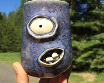 Liam Unique Ceramic Monster Cup Glass Wine Glass Beer Cup