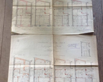 2 architecture plans concerning a Belgian house in Anderlecht, Brussels