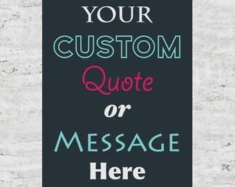Custom Poster Design Wall Art Print Sign