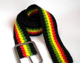 Reggae belt, rasta clothing, rastafari accessories, reggae clothes