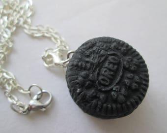 Miniature Food Jewelry, Oreo Necklace, Kawaii Oreo, Mini Food Jewelry,Mini Oreo Cookie, Fake Oreo Cookie