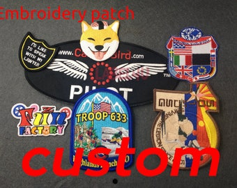 50 Custom embroidery patch, iron on patch, custom with your own logo, name patches custom, embroidered patches, sewing patches