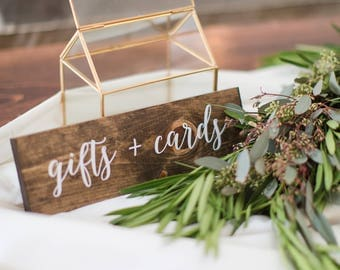 Gifts and Cards Sign - Wedding gifts and cards sign - Elizabeth collection