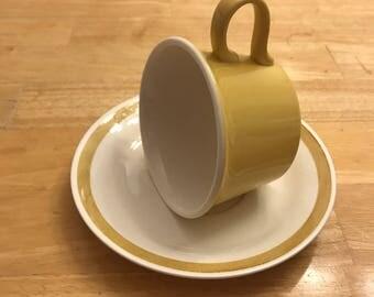 Yellow, Upcycled Tea Cup Bird Feeders