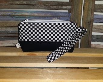 Checkered Racing Wristlet