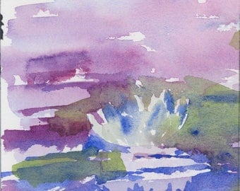 Waterlily 1 - Original Watercolor