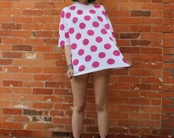 Vintage 1990s NOS Big Pink Polkadot T-Shirt