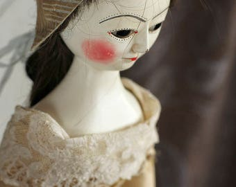 Marcia I, Queen Anne style wooden doll
