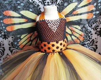 Monarch Butterfly Dress/Monarch Butterfly/Monarch Butterfly Costume/Girls Dresses/Baby Girl Dresses/Halloween Costumes/Monarch Butterfly