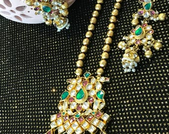 1 gram micro plated gold Kundan necklace set