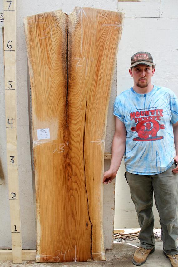 Unique live edge countertop rustic natural red oak wood