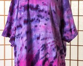 T Shirt, Tie Dye, Women, Unisex, Men, 3X, PLUS SIZE, Short Sleeve, Boho, Purple, Lavender, Pink, 100% Cotton, Gift, Gift for Her, 128