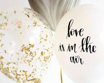 Balloon Trio   Black&White Marbled Balloon   Gold Confetti Balloon   love is in the air Balloon