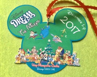 Disney Cruise Ornament - Very Merrytime Cruise Ornament -  Disney Cruise Merrytime Cruise Ornament - Christmas Ornament - Fish Extender Gift