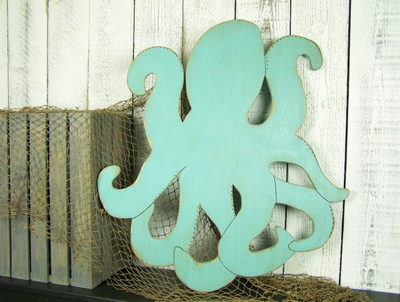 Wooden Octopus Wall Art