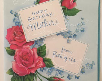Mother Birthday/From Both - Unused Vintage 1950s Card
