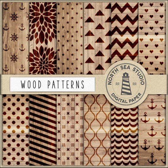 Wood Digital Paper Wood Burning Patterns Woodburning Designs