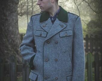 The most charming Bavarian boiled-wool vintage coat - for MEN - size L