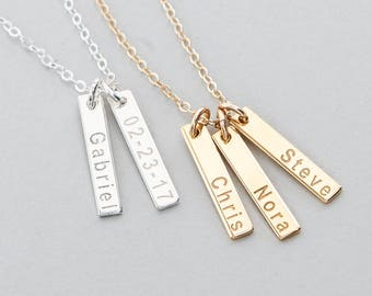 Gift for Her, Gift for Mom, Kids Name Necklace, Custom Name, Dainty Name Necklace, Sterling Silver, Gold Fill, Rose Gold Filled