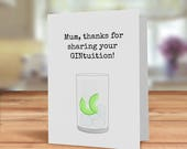 Gin card for Mum, Gin Bir...