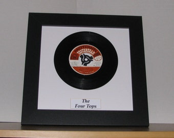 """The four tops Standing in the shadows of love 7"""" framed vinyl record gift"""