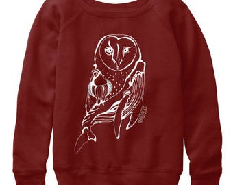 Owl Totem Wanderlust Womens slouchy sweatshirts All sizes available in 3 colors