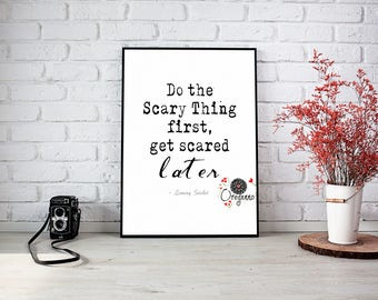LEMONY SNICKET-Do the scary thing-Inspirational wall art-Book literary-A Series of Unfortunate Events Motivational-Teens room decor-Home