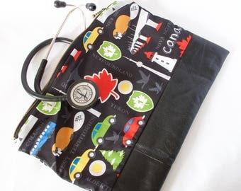 Stethoscope Bag.Nurse Gift.Physician Assistant Bag.Canada Bag.RN Bag.Canadian Nurse.Doctor Gift.Vet Gift.Nursing Student Bag. Vet Tech Gift.