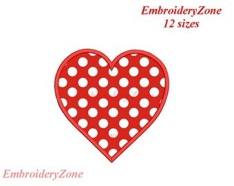 Heart Applique  design,Simple Heart  APPLIQUE machine embroidery designs,hearts embroidery pattern.Heart embroidery.Heart applique.12 sizes