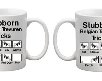 Belgian Tervurent Tricks Coffee Mug, Coffee Cup 11 once and 15 ounce available.